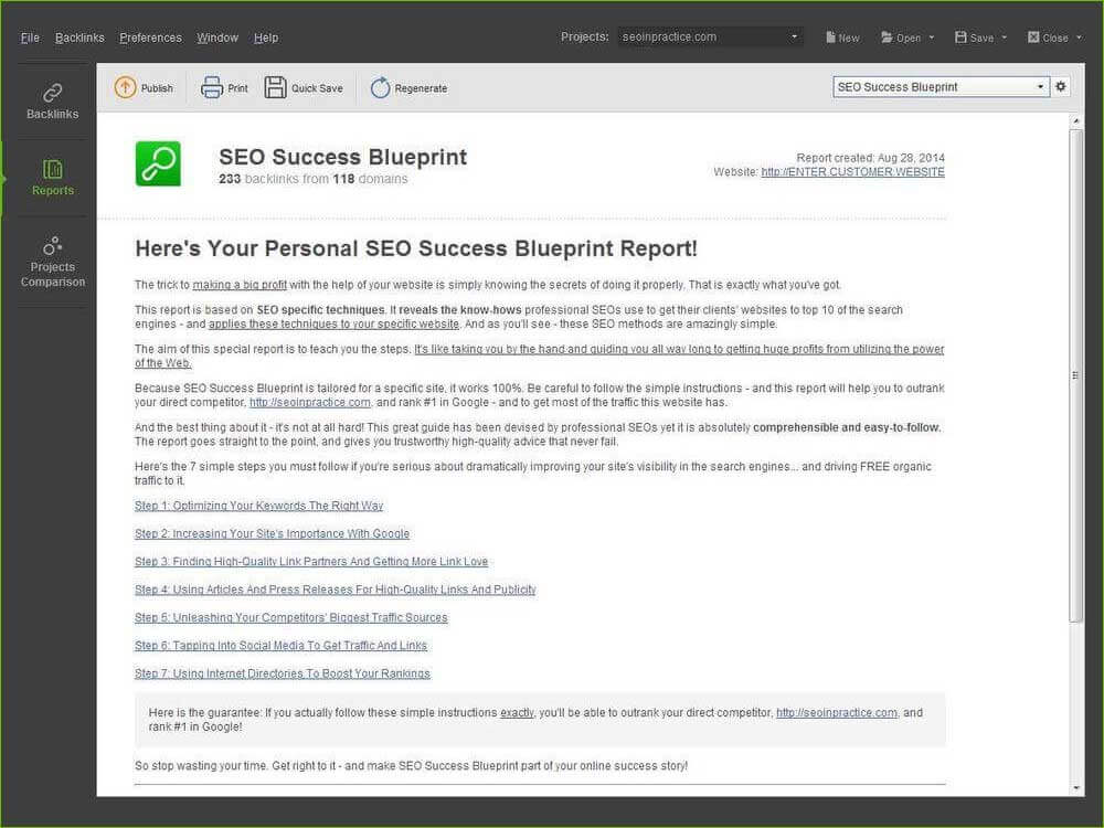 seo success blueprint report step by step tutorial to site optimization