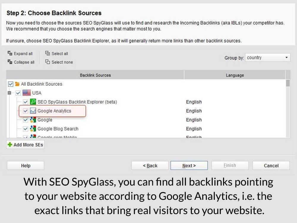 spots traffic generating backlinks